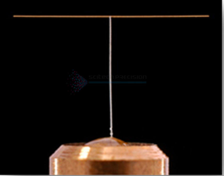 This a gold cone fabricated using gold plating. The gold is plated on to a copper mandrel and then etched off. The cone is assembled by hand to a stalk.